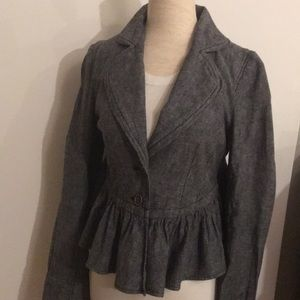 Free People jacket with ruffles